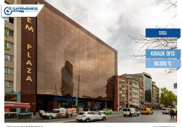 Şişli KİRALIK OFİS KATI 1.450m2 Cem Plaza 4. Kat