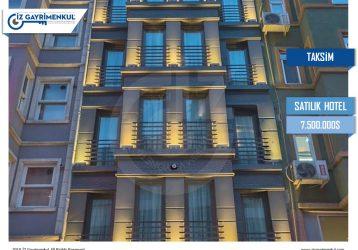 Taksim SATILIK BUTİK HOTEL 23 Odalı 60 Kişilik