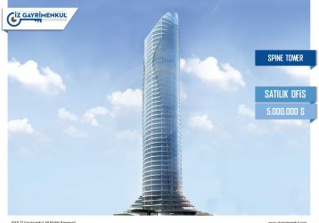 Maslak SATILIK PLAZA KATI Spine Tower 1.451 m2