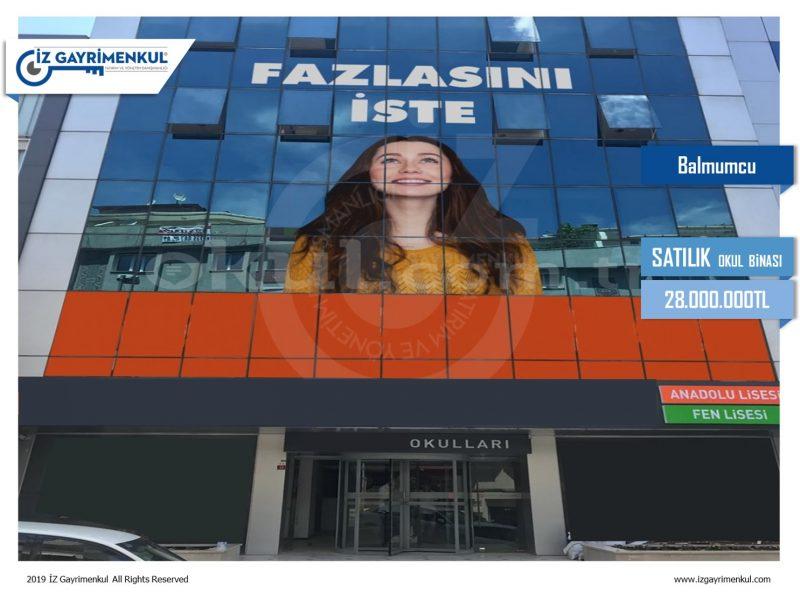 Beşiktaş SATILIK KİRACILI OKUL BİNASI 3.235m2
