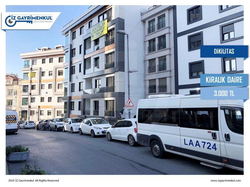 Beşiktaş KİRALIK DAİRE Dikilitaş'ta Yeni Bina 2+1 75m2