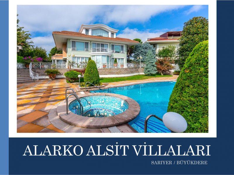 Sarıyer SATILIK VİLLA Alsit Villaları 2.000m2 Arsa 930m2 Kapalı Alanlı